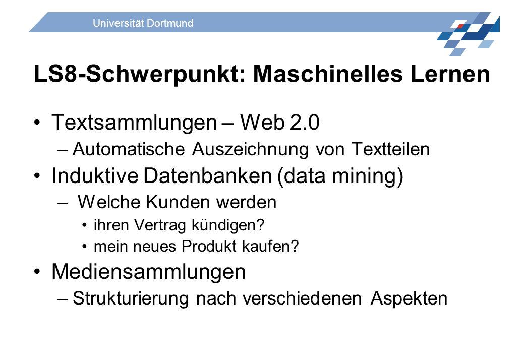LS8-Schwerpunkt: Maschinelles Lernen