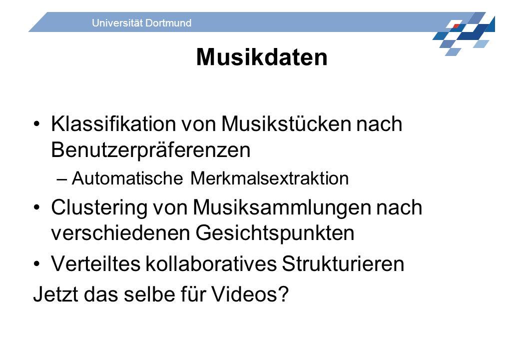 Musikdaten Klassifikation von Musikstücken nach Benutzerpräferenzen