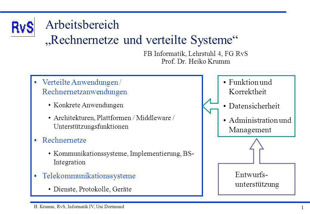 """Arbeitsbereich """"Rechnernetze und verteilte Systeme"""