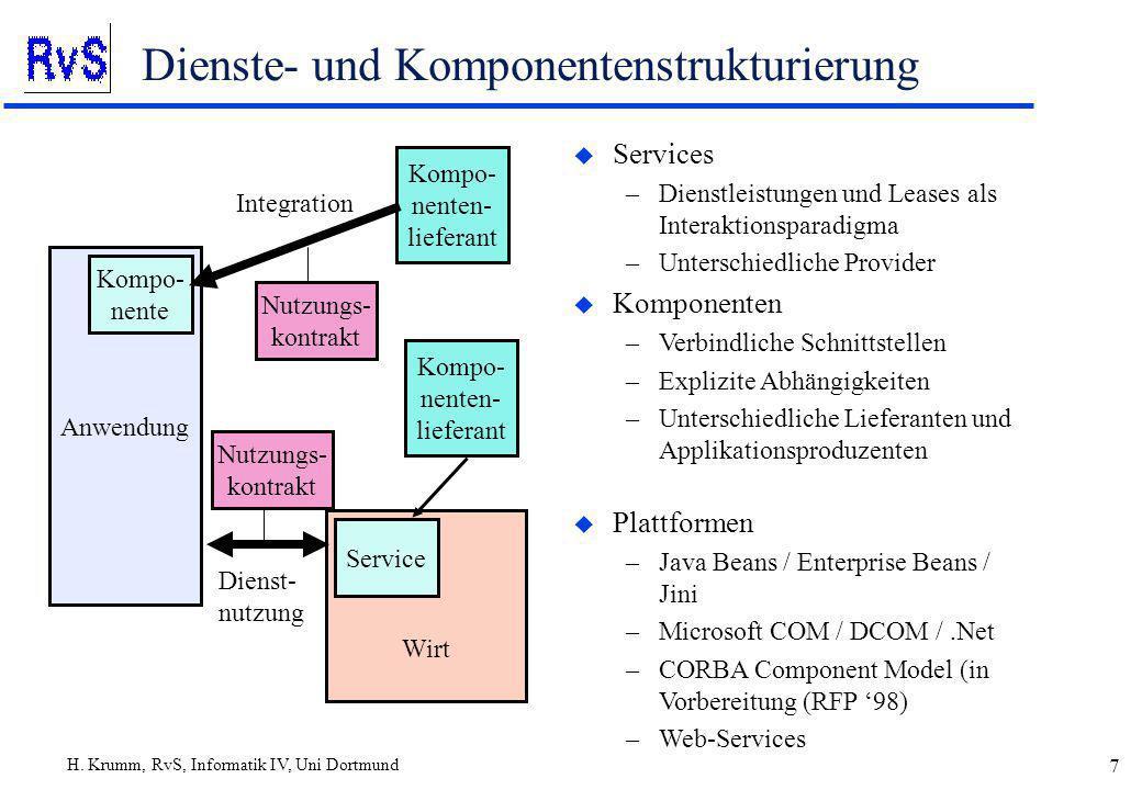 Dienste- und Komponentenstrukturierung