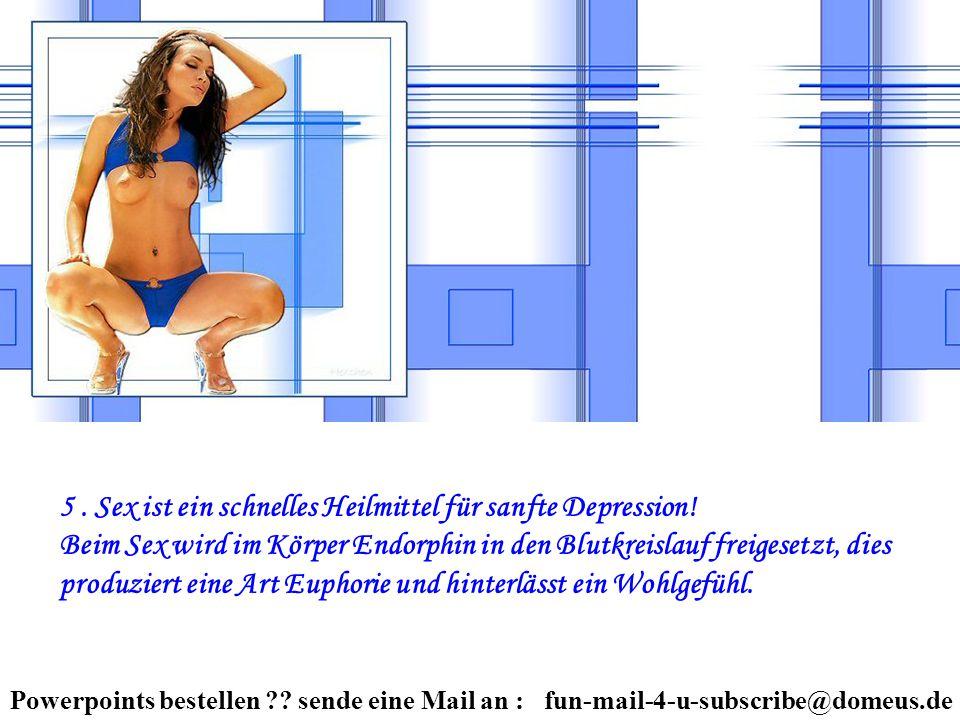 5. Sex ist ein schnelles Heilmittel für sanfte Depression