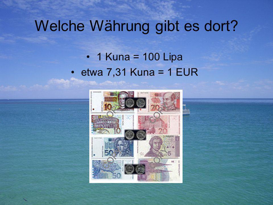 Welche Währung gibt es dort