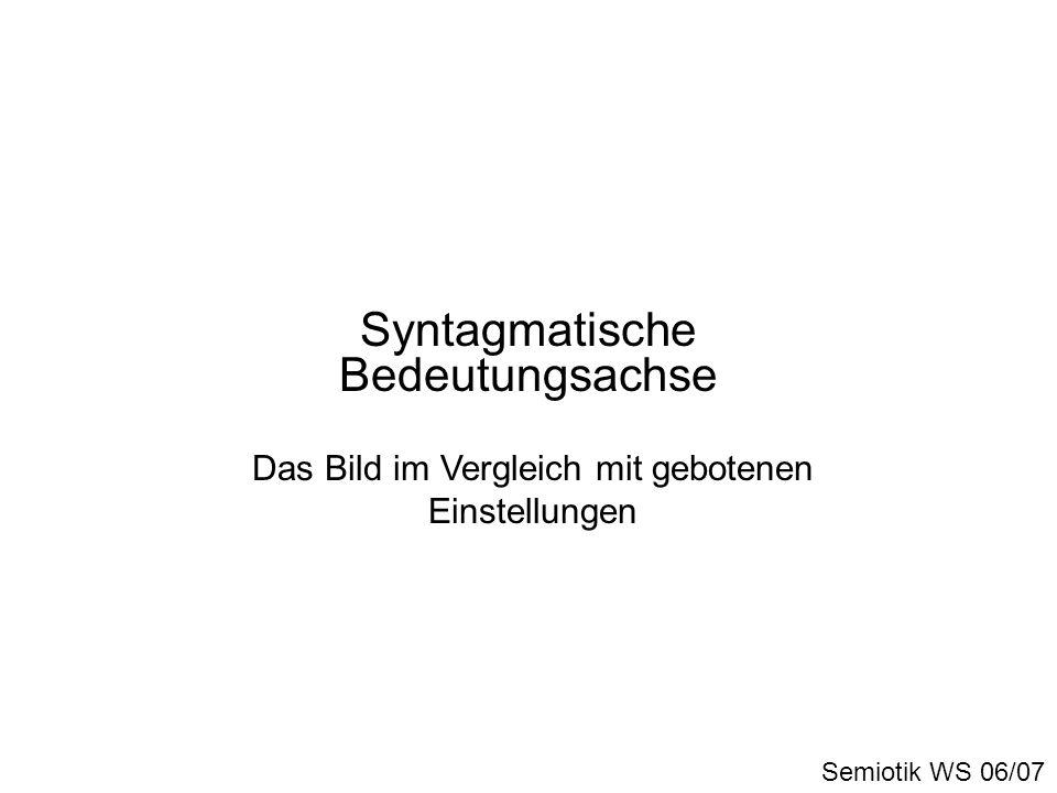 Syntagmatische Bedeutungsachse