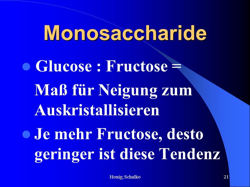 Monosaccharide Glucose : Fructose =