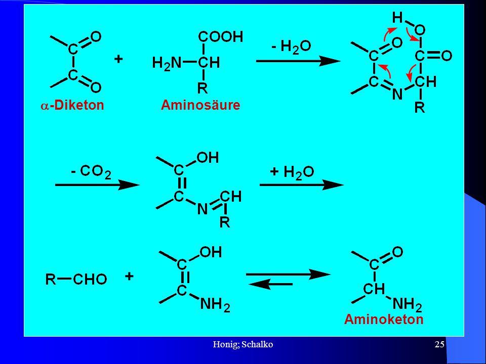 a-Diketon Aminosäure Aminoketon + Honig; Schalko