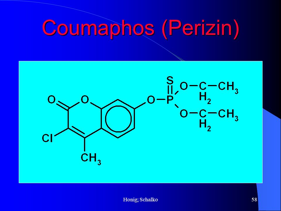 Coumaphos (Perizin) Honig; Schalko