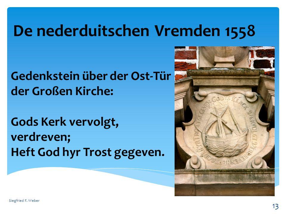 De nederduitschen Vremden 1558