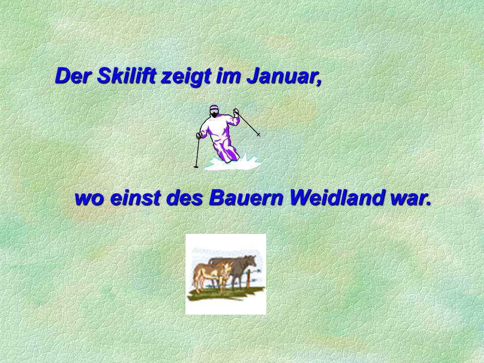Der Skilift zeigt im Januar,