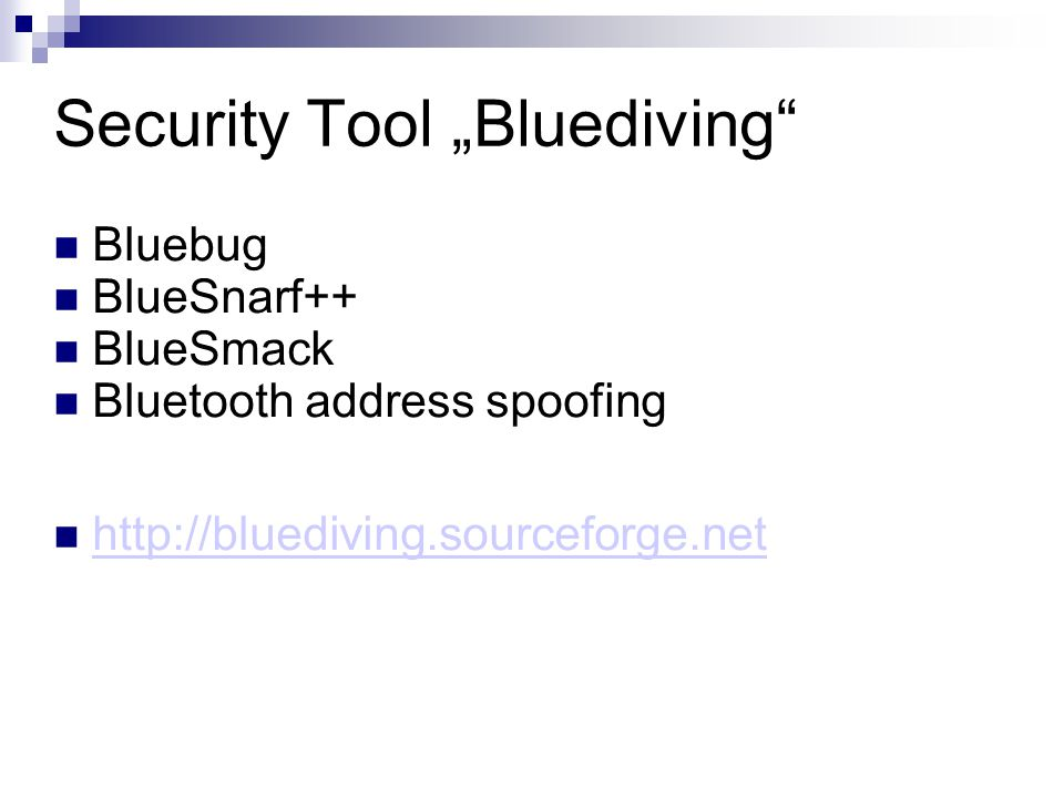 "Security Tool ""Bluediving"