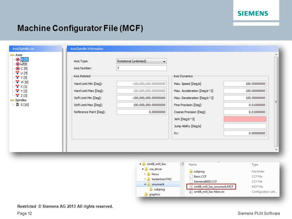 Machine Configurator File (MCF)