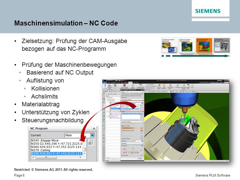 Maschinensimulation – NC Code
