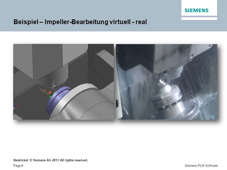 Beispiel – Impeller-Bearbeitung virtuell - real