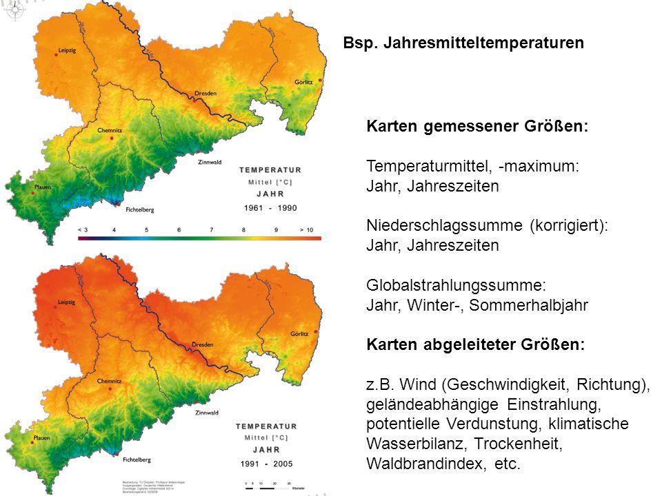 Bsp. Jahresmitteltemperaturen