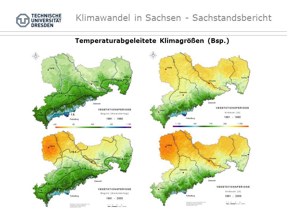 Temperaturabgeleitete Klimagrößen (Bsp.)