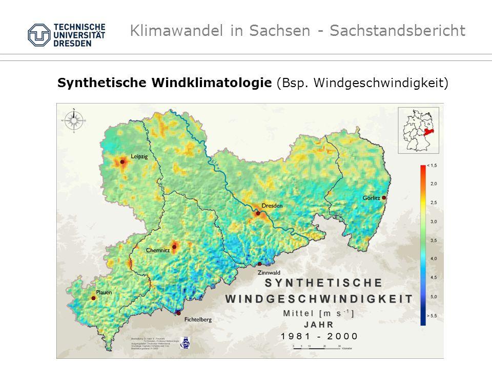 Synthetische Windklimatologie (Bsp. Windgeschwindigkeit)