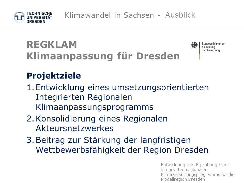 REGKLAM Klimaanpassung für Dresden
