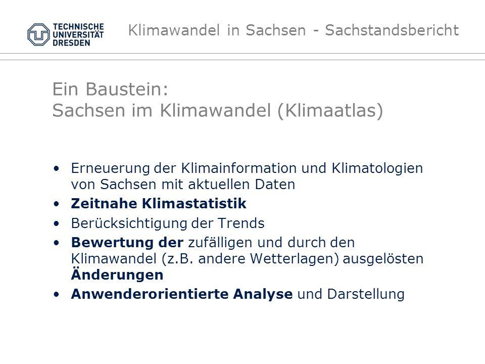 Ein Baustein: Sachsen im Klimawandel (Klimaatlas)