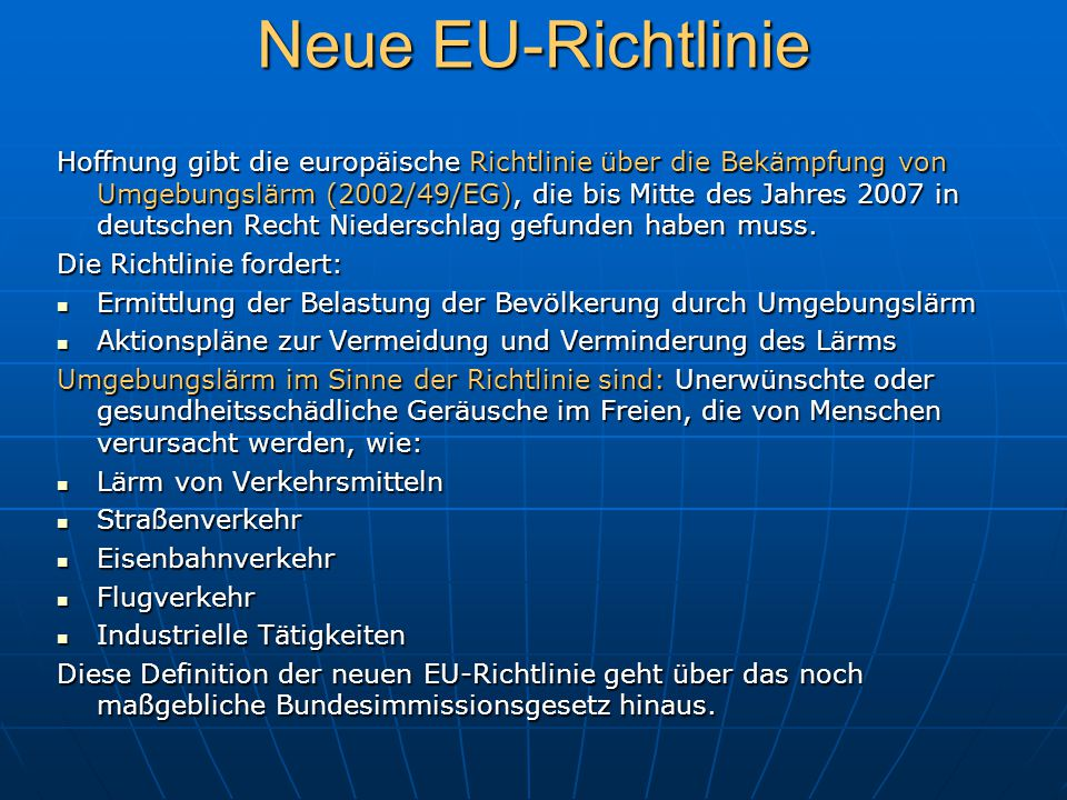 Neue EU-Richtlinie