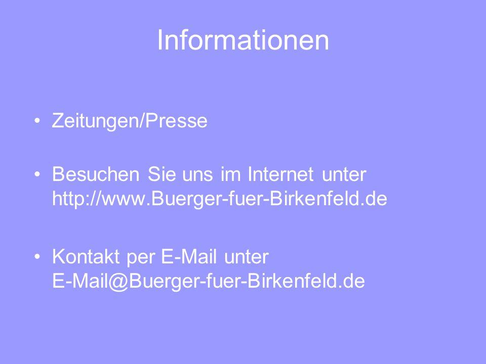 Informationen Zeitungen/Presse