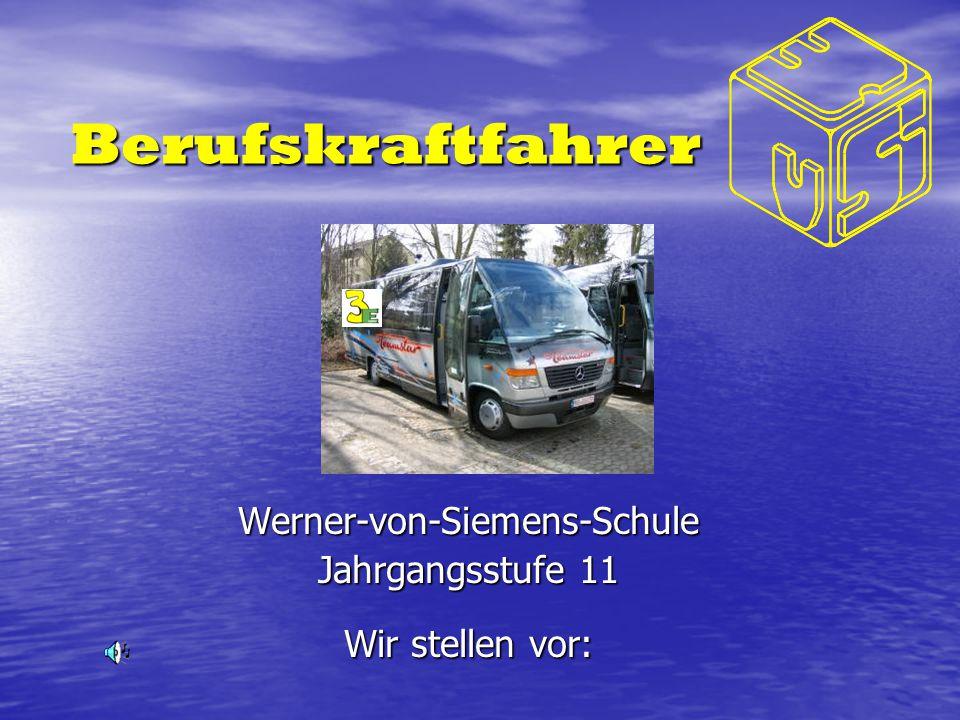 Werner-von-Siemens-Schule Jahrgangsstufe 11 Wir stellen vor: