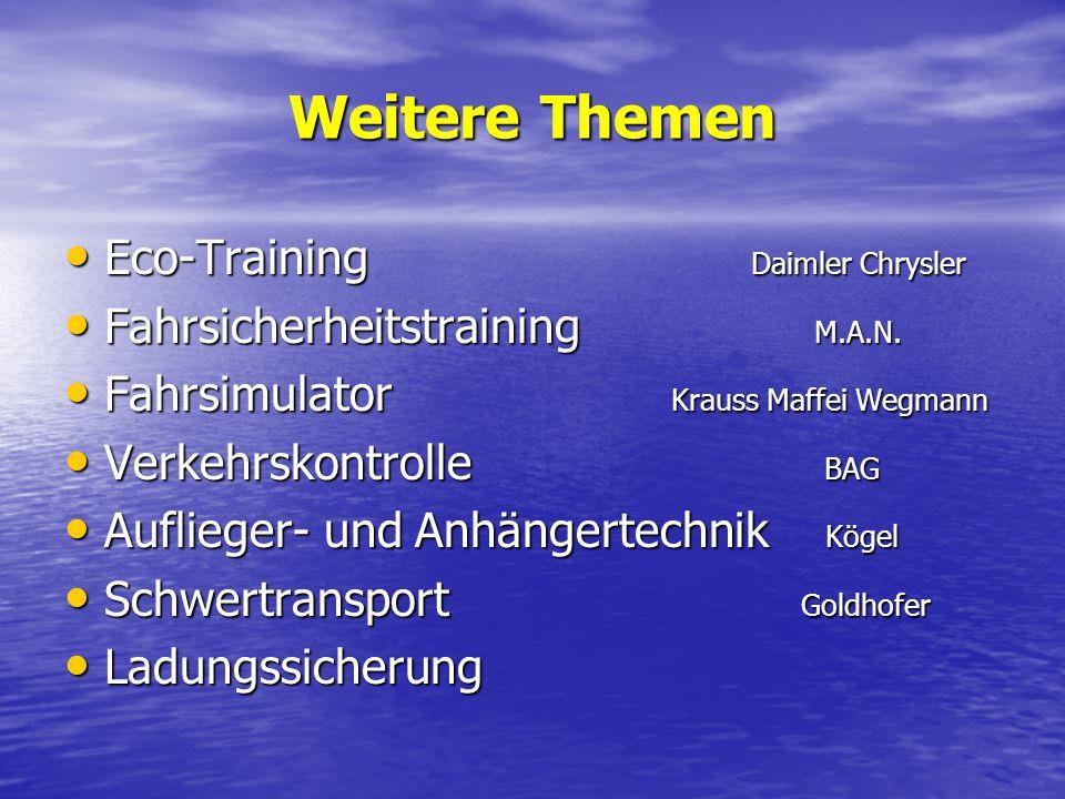 Weitere Themen Eco-Training Daimler Chrysler