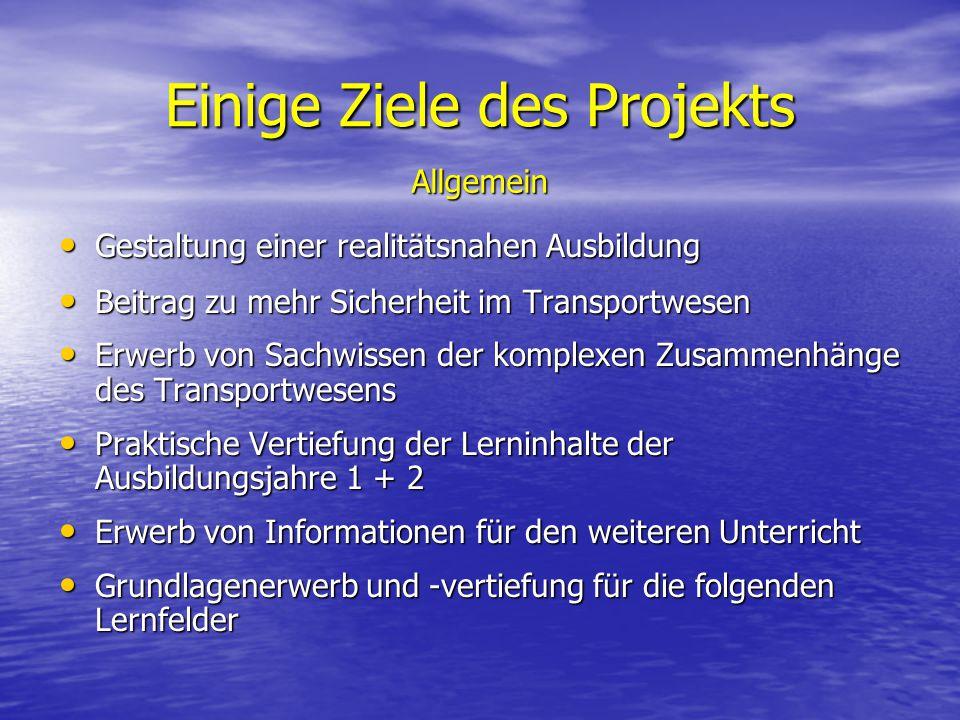 Einige Ziele des Projekts