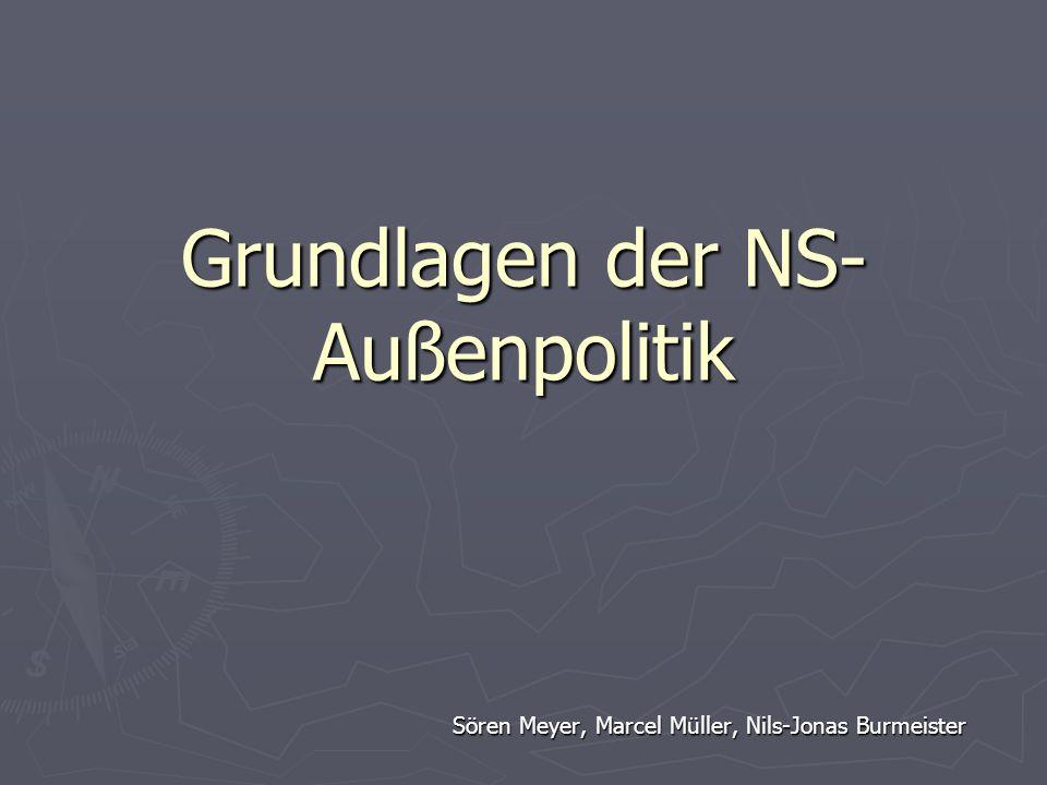 Grundlagen der NS-Außenpolitik