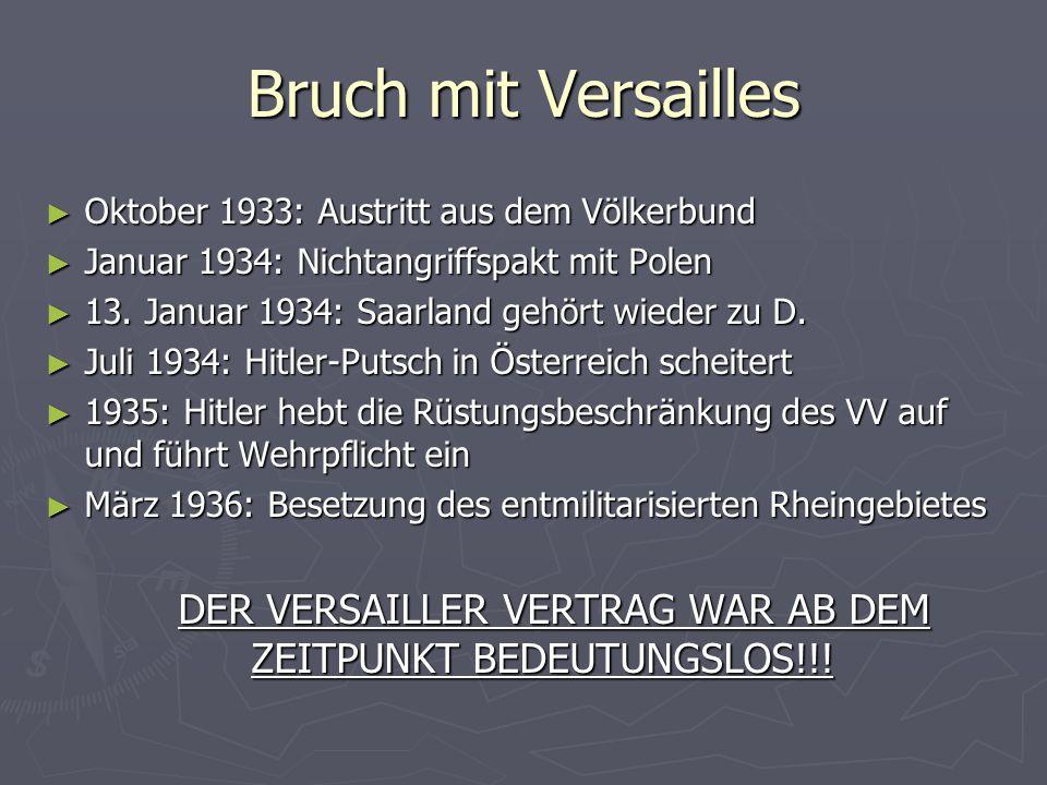 DER VERSAILLER VERTRAG WAR AB DEM ZEITPUNKT BEDEUTUNGSLOS!!!