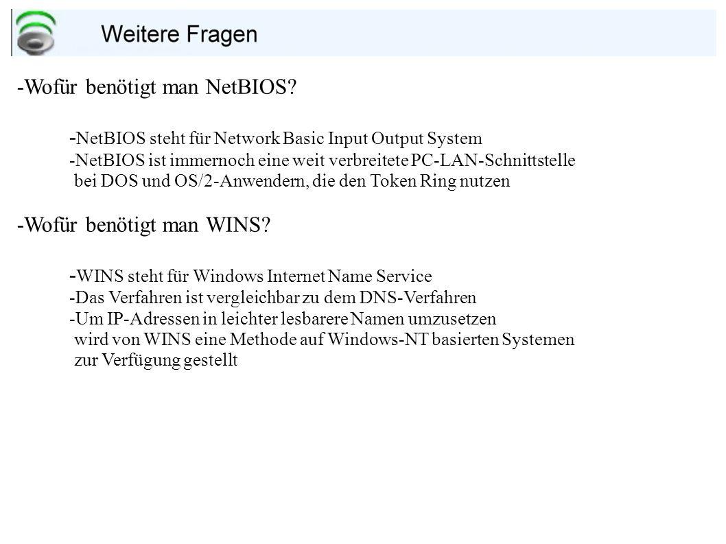 -Wofür benötigt man NetBIOS