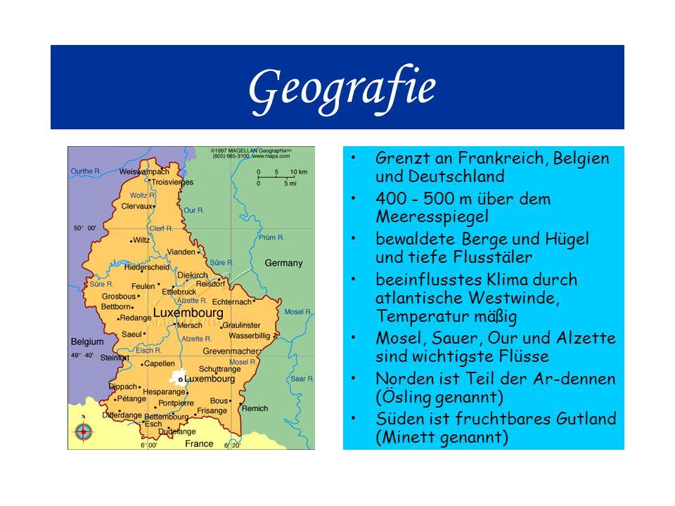 Geografie Grenzt an Frankreich, Belgien und Deutschland