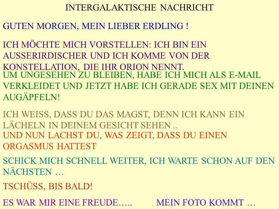 INTERGALAKTISCHE NACHRICHT