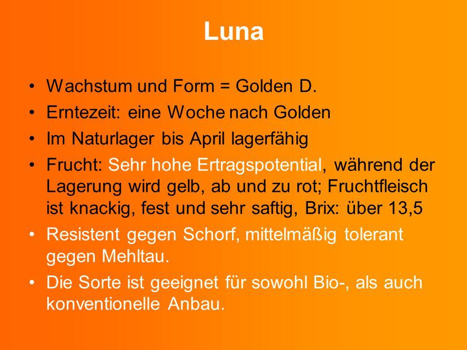 Luna Wachstum und Form = Golden D. Erntezeit: eine Woche nach Golden