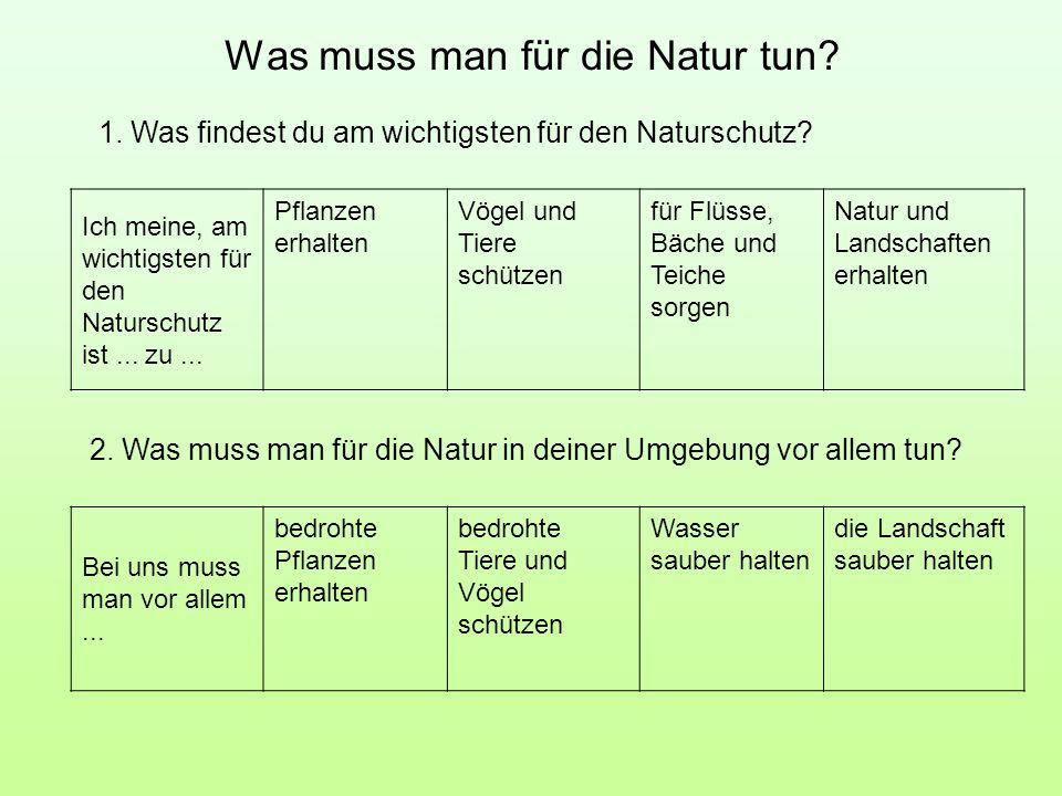 Was muss man für die Natur tun