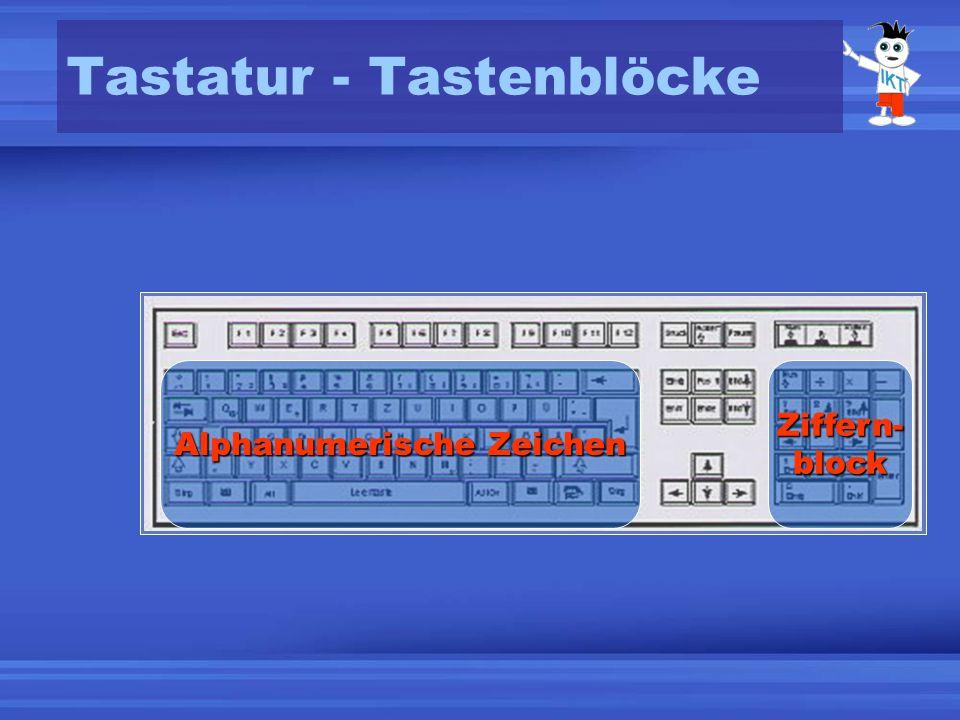 Tastatur - Tastenblöcke