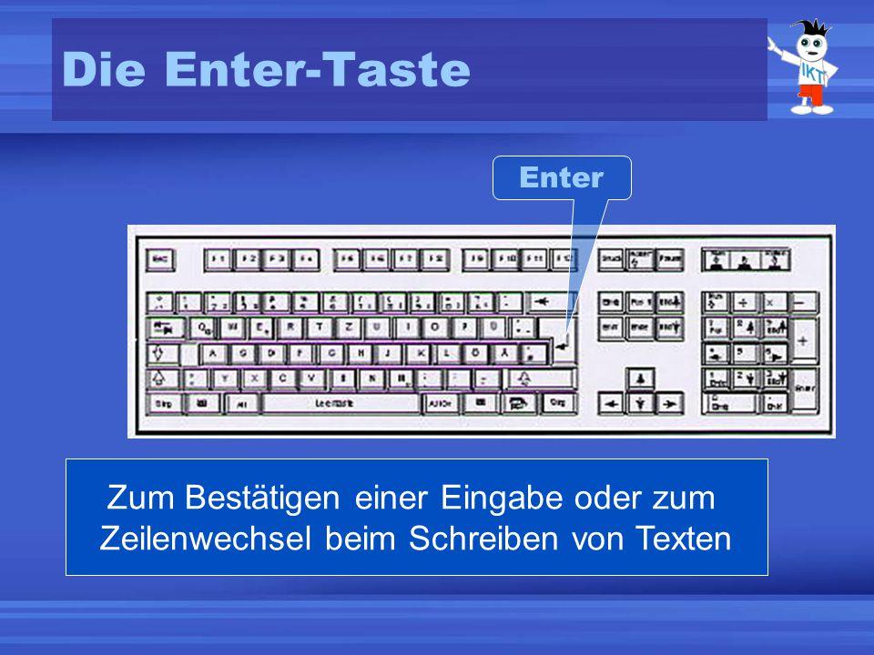 Die Enter-Taste Enter.