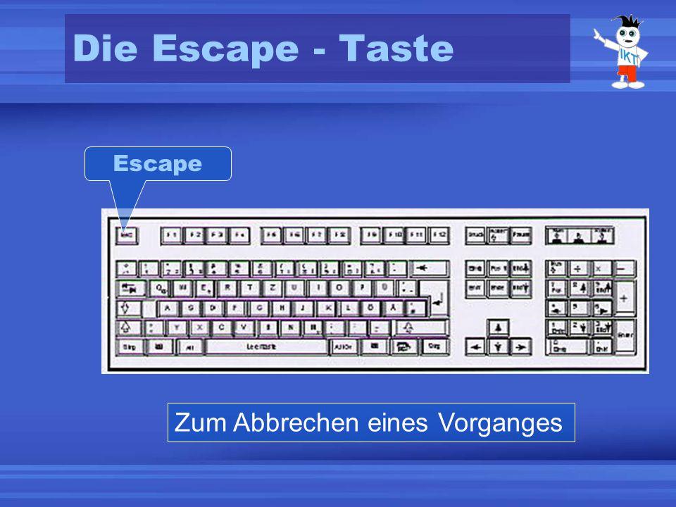 Die Escape - Taste Escape Zum Abbrechen eines Vorganges