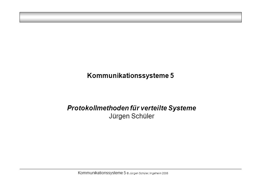 Kommunikationssysteme 5