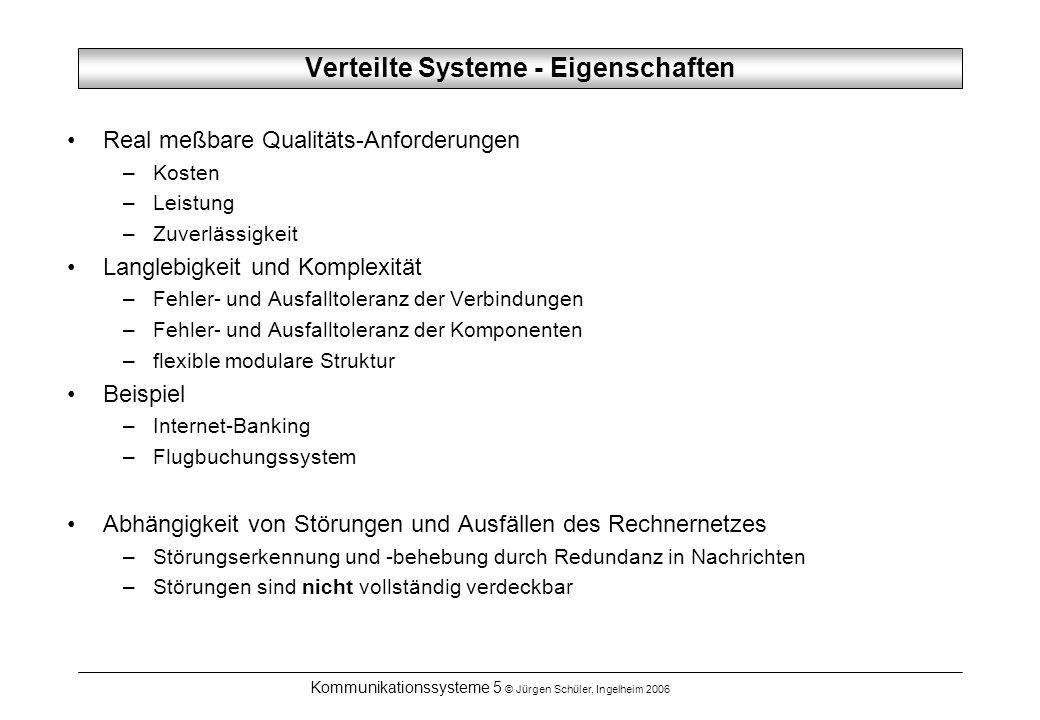 Verteilte Systeme - Eigenschaften