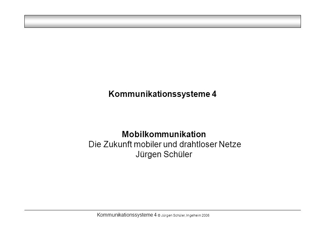 Kommunikationssysteme 4