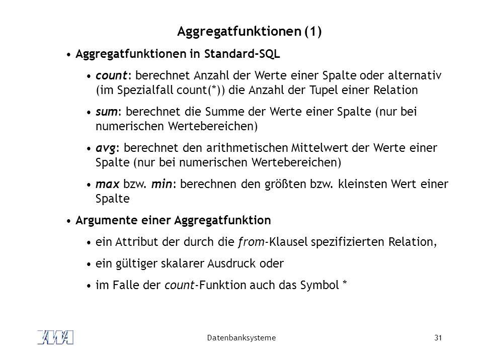 Aggregatfunktionen (1)