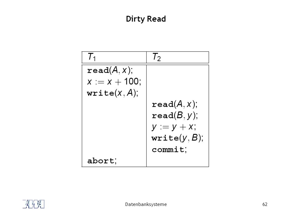 Dirty Read Datenbanksysteme