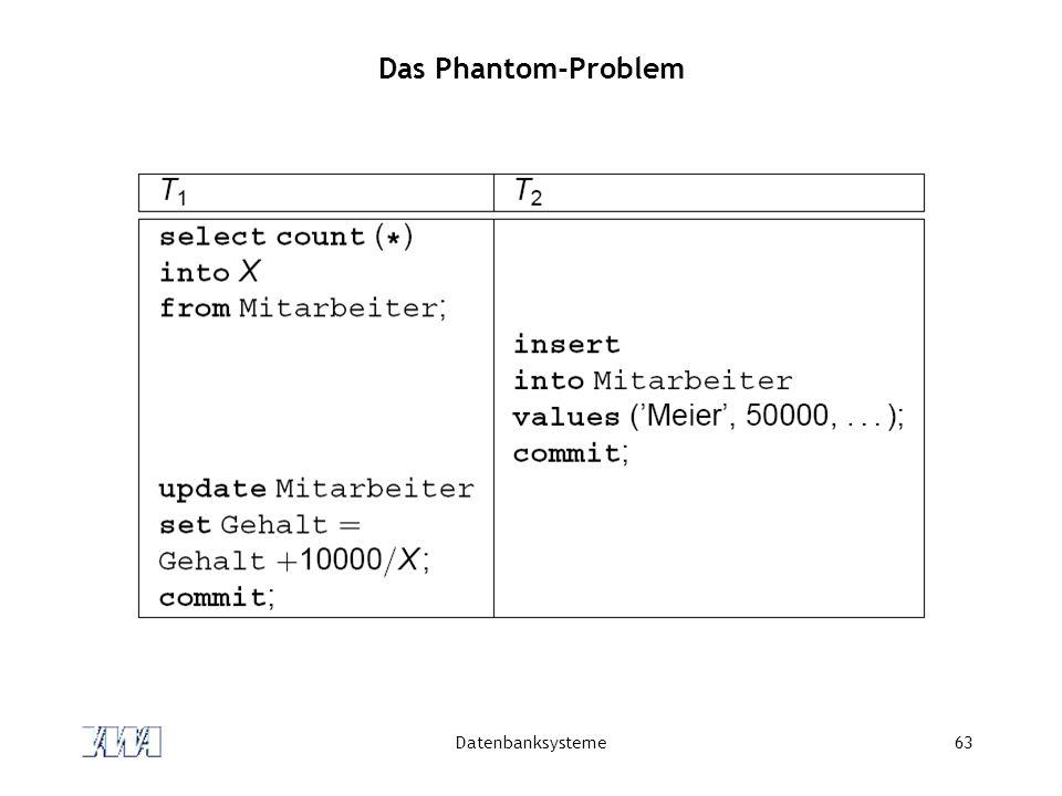 Das Phantom-Problem Datenbanksysteme
