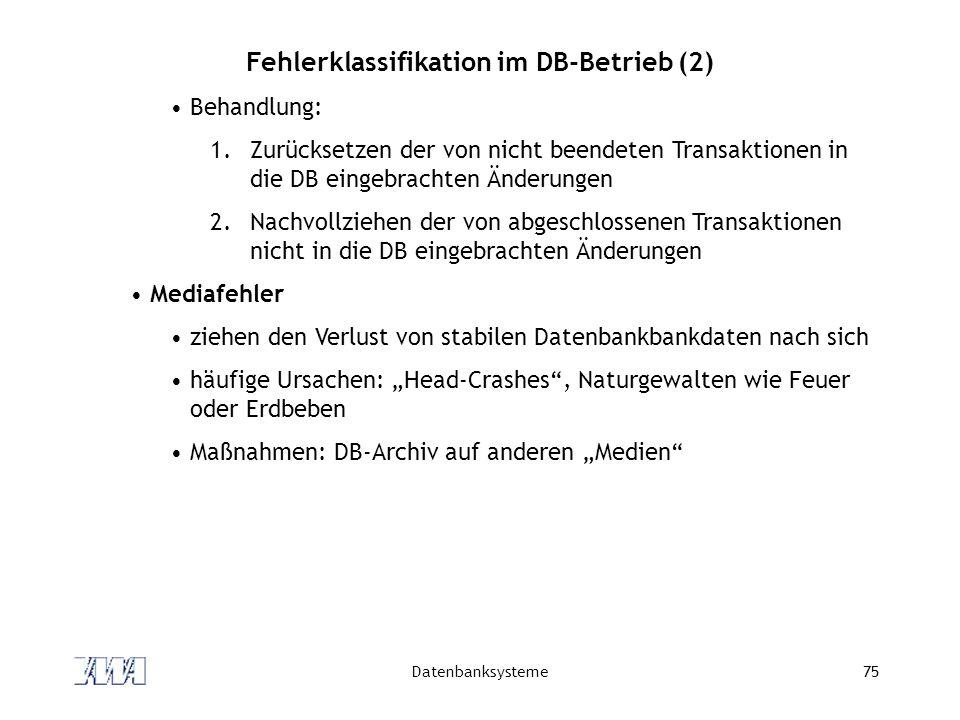 Fehlerklassifikation im DB-Betrieb (2)
