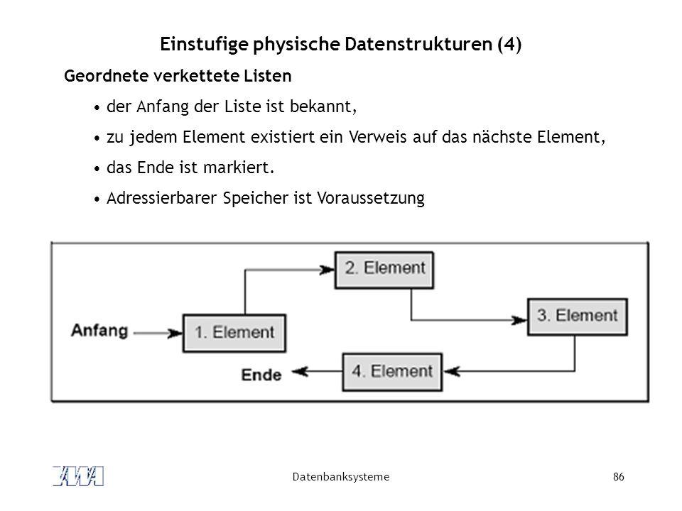Einstufige physische Datenstrukturen (4)
