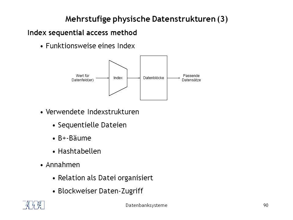 Mehrstufige physische Datenstrukturen (3)