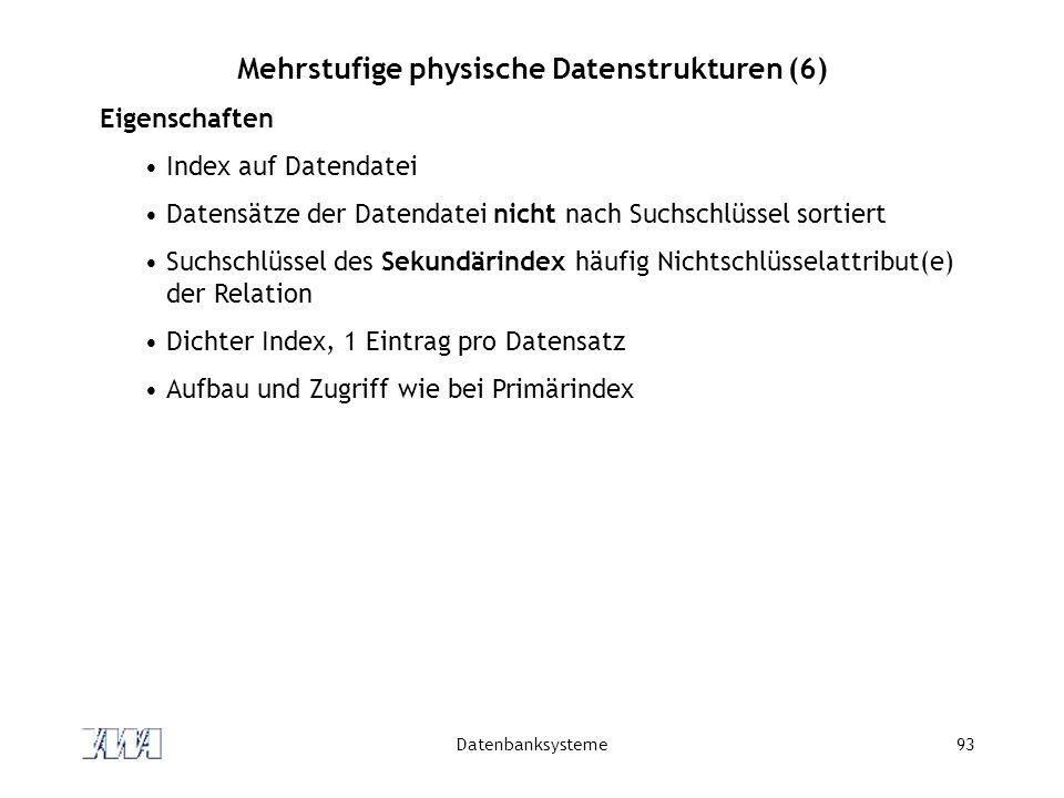 Mehrstufige physische Datenstrukturen (6)