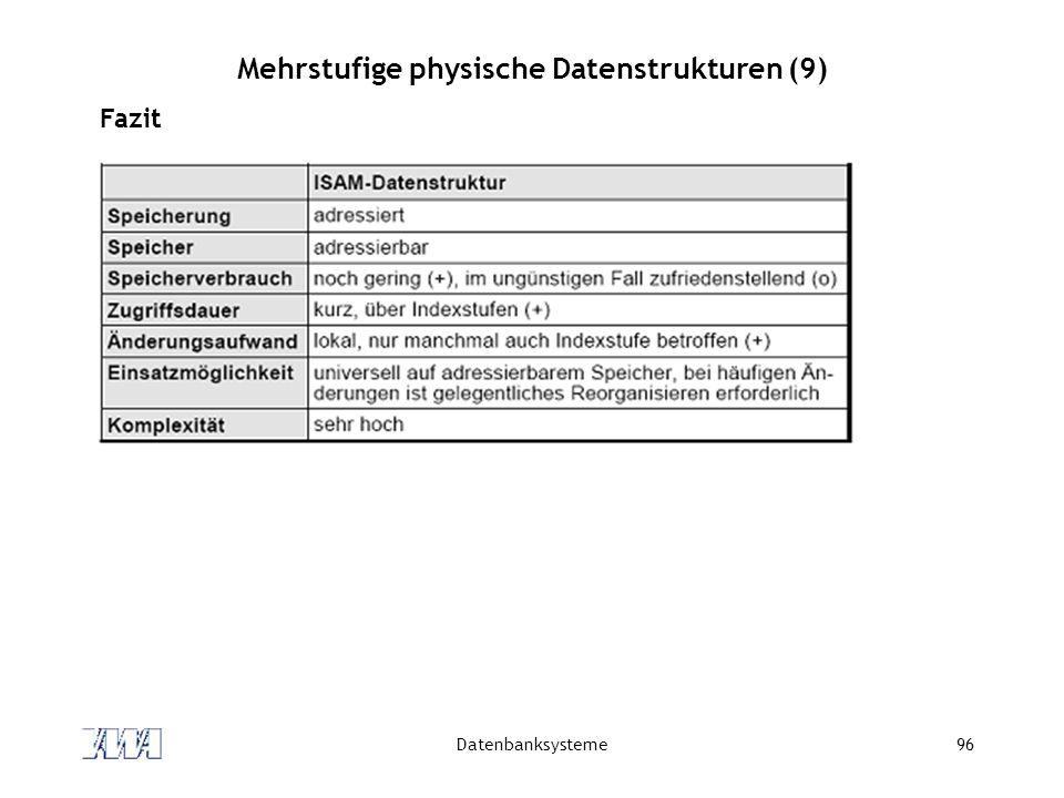 Mehrstufige physische Datenstrukturen (9)