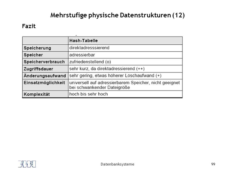 Mehrstufige physische Datenstrukturen (12)