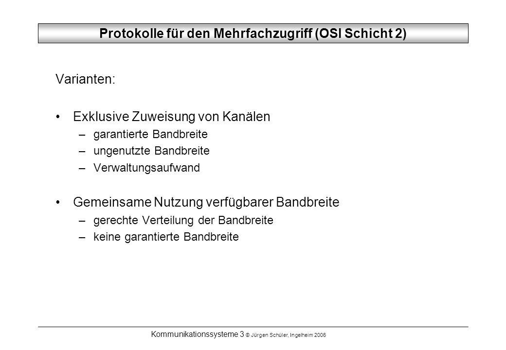 Protokolle für den Mehrfachzugriff (OSI Schicht 2)