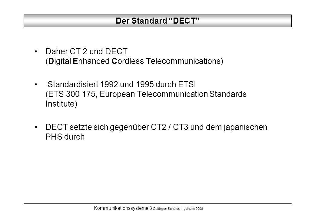 Kommunikationssysteme 3 © Jürgen Schüler, Ingelheim 2006